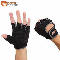 BOER парные противоскользящие спортивные перчатки с половинным пальцем для велосипеда L