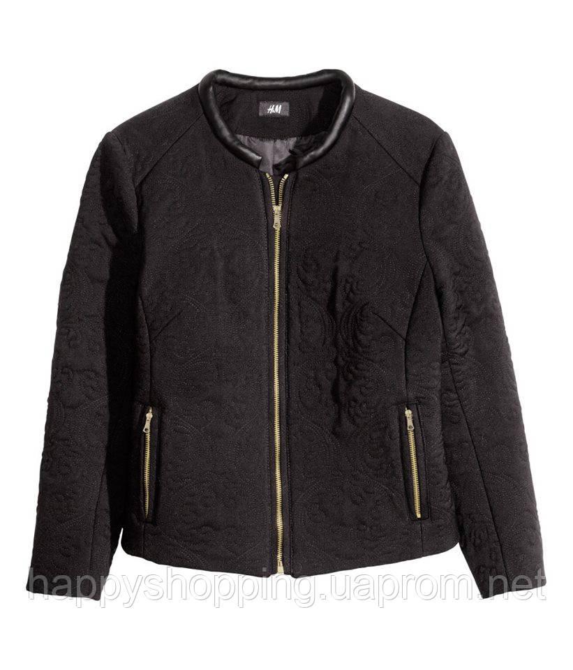 Стеганая черная  куртка H&M