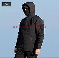 Куртка тактическая софт шелл. Оригинальная ткань soft shell (ветровлагозащитная), фото 1