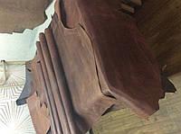 Натуральная кожа КРС Крейзи-хорс коньячного цвета