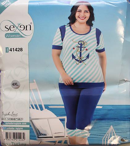 Футболка и бриджи - женская пижама SEXEN (Батал) 41428, фото 2