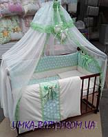 Детский комплект в кроватку для новорожденных Bonna Lux бирюза