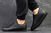 Кроссовки в стиле Reebok Classic (черные) кожа, кожаные кроссовки Reebok Рибок 4616