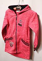 Детский батник для девочек розового цвета 98-128см