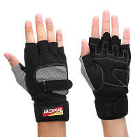 BOER пара перчаток с открытыми пальцами для велоспорта L
