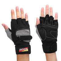 BOER пара перчаток с открытыми пальцами для велоспорта XL