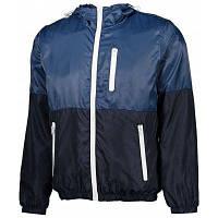 Мужчины Сверхлегкий Контрастного Цвета Ветрозащитный Куртка С Капюшоном 2XL