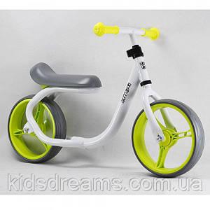 Беговел  PROF1 KIDS TKH-1202-2, бело-зеленый