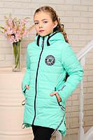 Весенне-осенняя куртка «Камила» для девочек 6-11 лет, коллекция 2018, р. 30-40 / 116-146 см ТМ MANIFIK Минт