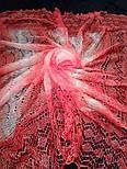 """Шаль """"""""Волна"""""""" Ш-00180, цвет коралловый, оренбургский платок (шаль), фото 4"""
