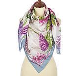 10603-1, павлопосадский платок хлопковый (батистовый) с швом зиг-заг, фото 3
