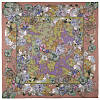 10599 платок  (батист) 10599-16, павлопосадский платок хлопковый (батистовый) с швом зиг-заг