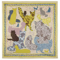 10607 платок  (батист) 10607-2, павлопосадский платок хлопковый (батистовый) с швом зиг-заг, фото 1
