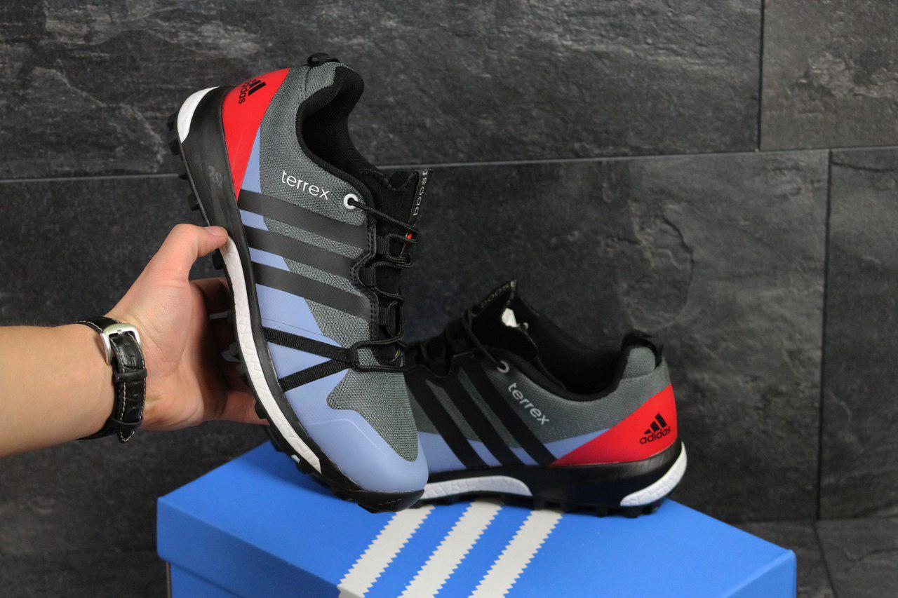 Кроссовки в стиле Adidas Terrex Boost (серые с красным) кроссовки адидас  adidas 4621, ... 700878654f4
