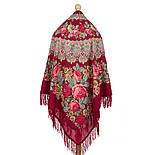 Молитва 353-5, павлопосадский платок шерстяной  с шерстяной бахромой, фото 3