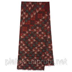 10482 10482-6, павлопосадский шарф (кашне) шерстяной (разреженная шерсть) с осыпкой