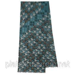 10482 10482-12, павлопосадский шарф (кашне) шерстяной (разреженная шерсть) с осыпкой