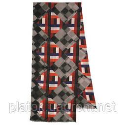 10481 10481-18, павлопосадский шарф (кашне) шерстяной (разреженная шерсть) с осыпкой