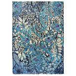 10457-13, павлопосадский шарф-палантин шерстяной (разреженная шерсть) с осыпкой, фото 2