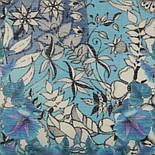 10457-13, павлопосадский шарф-палантин шерстяной (разреженная шерсть) с осыпкой, фото 3