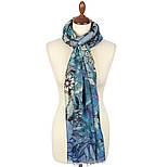 10457-13, павлопосадский шарф-палантин шерстяной (разреженная шерсть) с осыпкой, фото 4