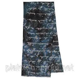 10449 10449-12, павлопосадский шарф (кашне) шерстяной (разреженная шерсть) с осыпкой