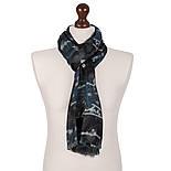 10449 10449-12, павлопосадский шарф (кашне) шерстяной (разреженная шерсть) с осыпкой, фото 3