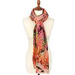 10494-3, павлопосадский шарф-палантин шерстяной (разреженная шерсть) с осыпкой, фото 2