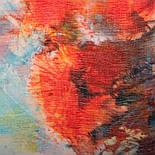 10360-5, павлопосадский шарф-палантин шерстяной (разреженная шерсть) с осыпкой, фото 2