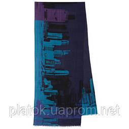 10643-15, павлопосадский шарф (кашне) шерстяной (разреженная шерсть) с осыпкой