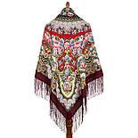 Дождь 1779-7, павлопосадский платок шерстяной (двуниточная шерсть) с шелковой вязаной бахромой, фото 4