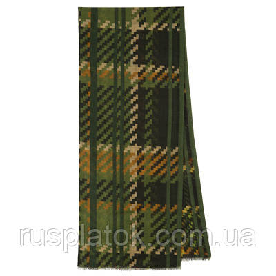 10484-10, павлопосадский шарф (кашне) шерстяной (разреженная шерсть) с осыпкой