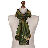 10484-10, павлопосадский шарф (кашне) шерстяной (разреженная шерсть) с осыпкой, фото 3