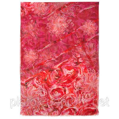 10452-5, павлопосадский шарф-палантин шерстяной (разреженная шерсть) с осыпкой