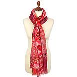 10452-5, павлопосадский шарф-палантин шерстяной (разреженная шерсть) с осыпкой, фото 4