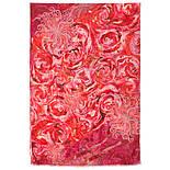 10452-5, павлопосадский шарф-палантин шерстяной (разреженная шерсть) с осыпкой, фото 5