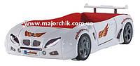 Детская кровать машинка гоночная машина белая БМВ BMW