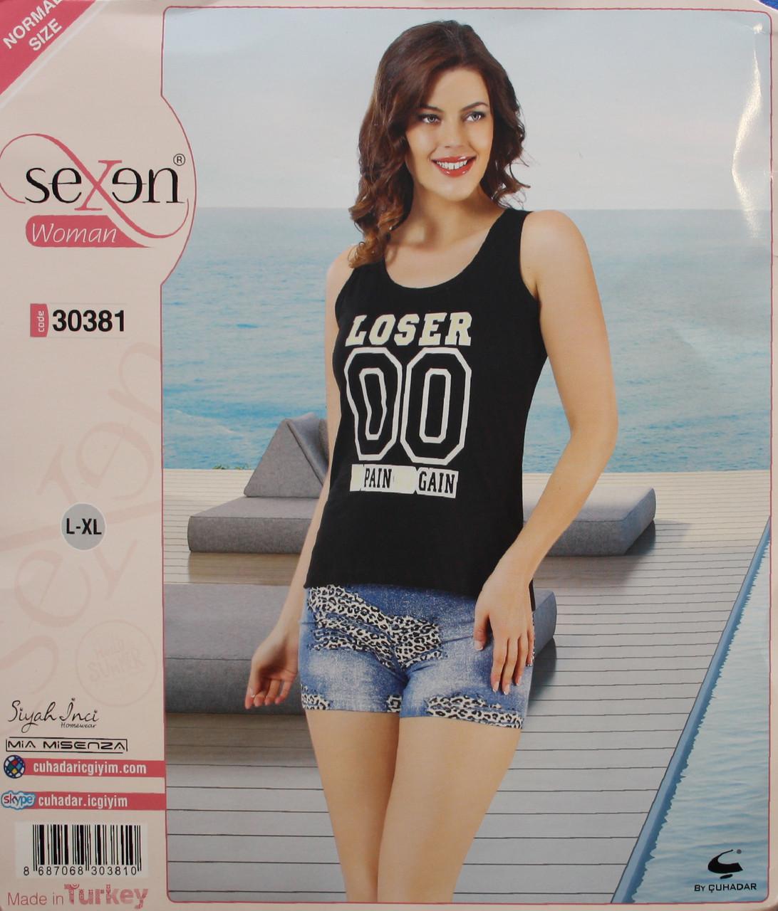 Летняя пижама для женщин - шорты и майка SEXEN 30381