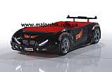 Детская кровать машинка БМВ гоночная машина красная BMW, фото 8