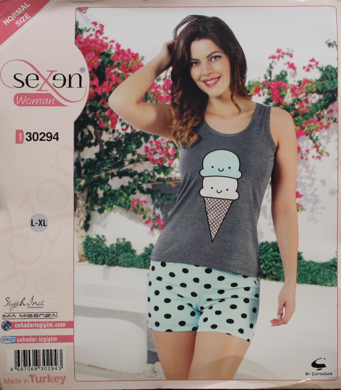 Летняя пижама для женщин - шорты и майка SEXEN 30294