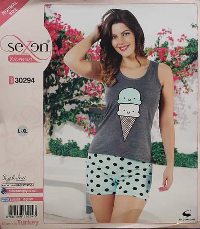 Летняя пижама для женщин - шорты и майка SEXEN 30294, фото 2