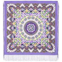 Дождь 1779-15, павлопосадский платок шерстяной (двуниточная шерсть) с шелковой вязаной бахромой    СКИДКА!!!