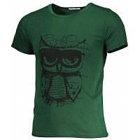 Хлопковая печатная футболка для мужчин M