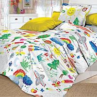 Постельное белье для малышей в кроватку поплин Радуга Арт