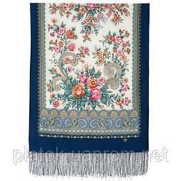 Почуття прекрасного 1767-14, павлопосадский вовняний шарф з шовковою бахромою