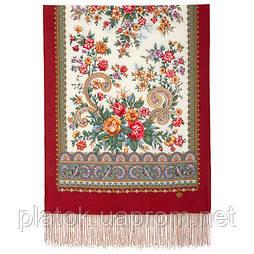 Почуття прекрасного 1767-55, павлопосадский вовняний шарф з шовковою бахромою