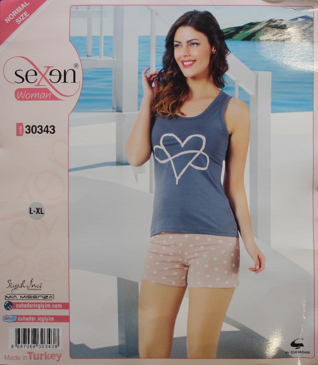 Летняя пижама для женщин - шорты и майка SEXEN 30343