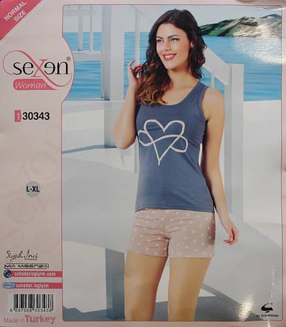 Летняя пижама для женщин - шорты и майка SEXEN 30343, фото 2
