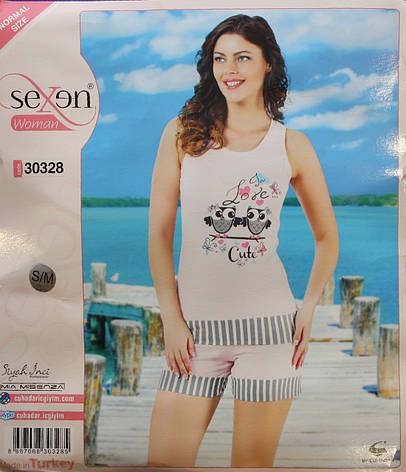 """Летняя пижама для женщин - шорты и майка """"SEXEN"""" 30328, фото 2"""