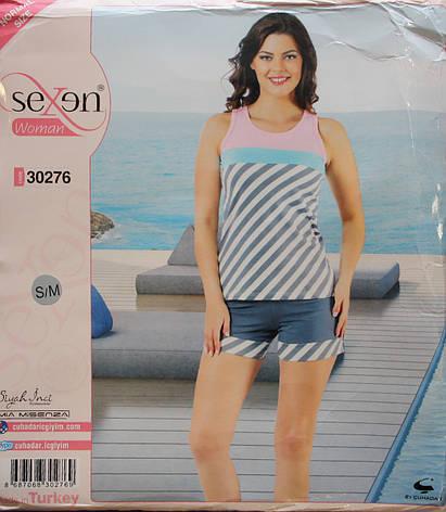 """Летняя пижама для женщин - шорты и майка """"SEXEN"""" 30276, фото 2"""